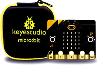 KEYESTUDIO BBC Micro:bit Kit with Microbit Board,Storage Bag for Kids and Beginners Mini PC to Learn Programming
