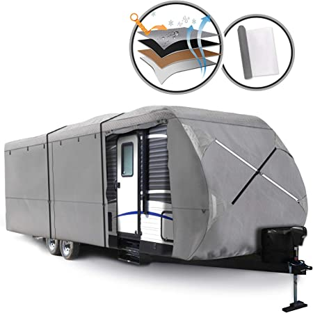 arch motor RV Travel Trailer Cover 3 Layers Fit Class A 27 to 30 Long