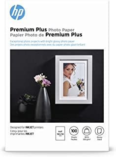 HP Premium Plus Photo Paper | Glossy | 4×6 | 100 Sheets
