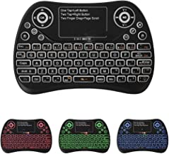 Mini Wireless Keyboard with Touchpad Rechargeable Fly Mouse 2.4GHz Smart Game Three-Color Backlit Keyboard