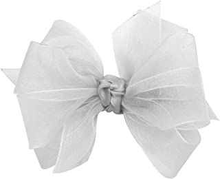 Wee Ones Baby Girls' Mini Classic Organza Double Hair Bow