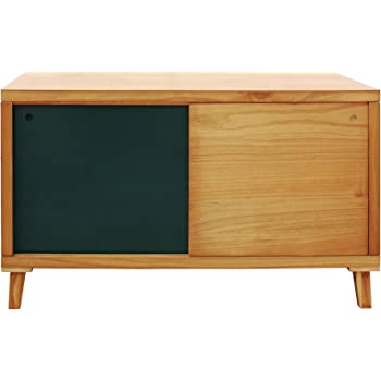 Mobili Rebecca® Aparador para TV Mueble Bajo 2 Puerta Corredera Madera Marrón Verde Salón Pasillo Decoración Moderno (Cod. RE6057): Amazon.es: Hogar