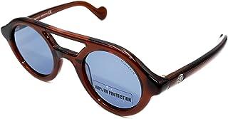 Sunglasses Moncler ML 14 48V shiny dark brown / blue