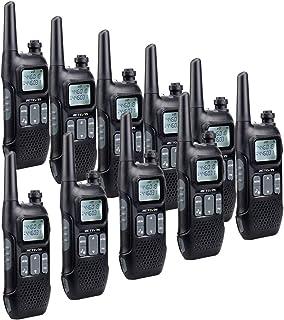 Retevis RT616 Walkie Talkie, PMR 446 sin Licencia 16 Canales, VOX 10 Tonos de Llamada FM Radio Linterna LED, Walkie Talkie Recargable para Supermercado Restaurante (Negro, 5 Par)