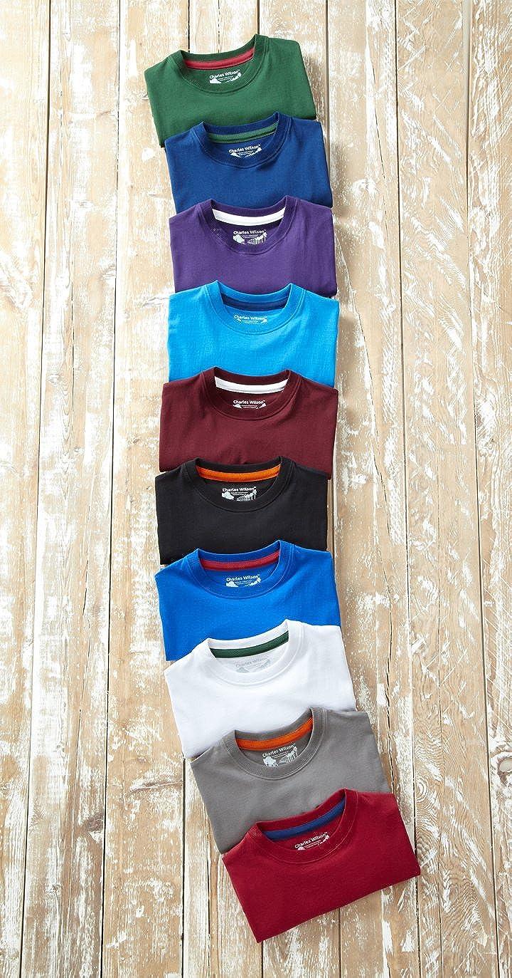 Charles Wilson 5er Packung Einfarbige T-Shirts mit Rundhalsausschnitt