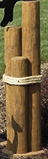 Nautical - Home Decor - Pier Post with Rope - Large Amish Handmade Nautical Pier Post Decoration with Rope