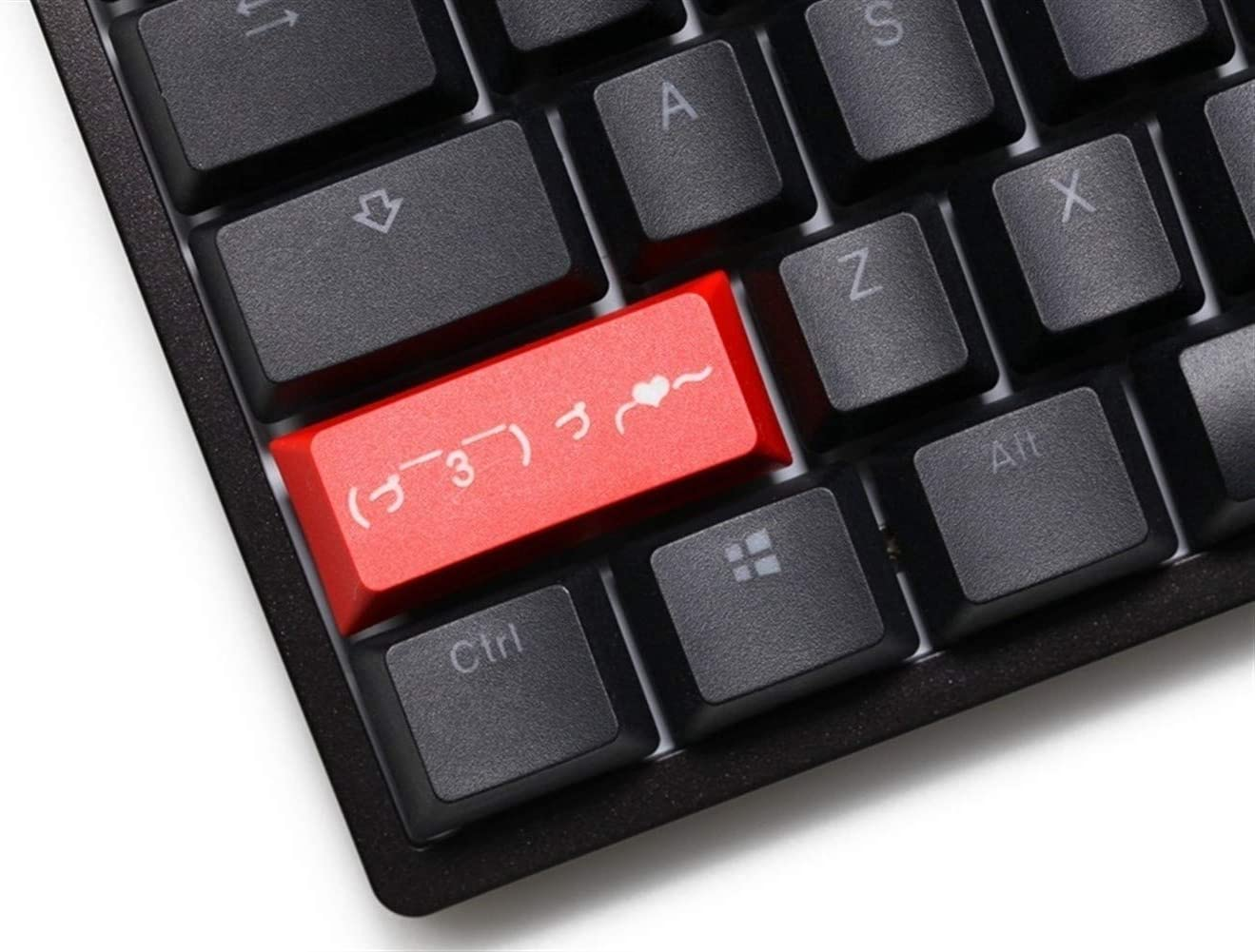 Keyboard keycaps Profile Dip Dye Pbt Keycap for Mechanical Keyboard Laser Love Left Shift Black Red Blue Color : Blue LShift Love x1