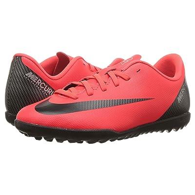 Nike Kids VaporX 12 Club CR7 TF Soccer (Little Kid/Big Kid) (Bright Crimson/Black/Chrome) Kids Shoes