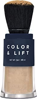 Color & Lift with Thickening Powder - Available in 8 Hair Colors - Root Cover Up - Temporary Hair Coloring Brush that Refreshes Hair - Medium Brown