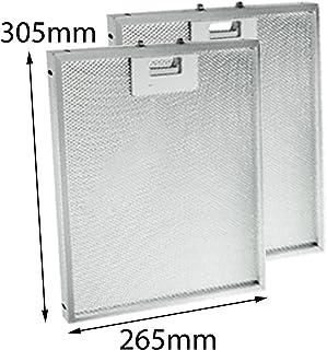 Spares2go aluminio grasa malla filtro para Creda BHC60BHC100campana Ventilador rejilla de ventilación (305x 265mm, pack de 1o 2) 2 Filters