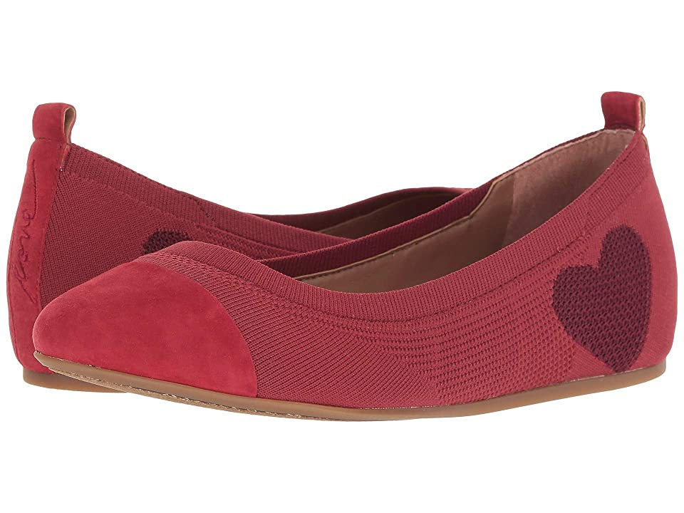 ED Ellen DeGeneres Lilli Knit Flat (Cranberry/Cherry/Cranberry) Women
