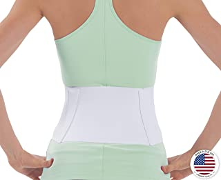NYOrtho Tapered Abdominal Binder Compression Wrap - Breathable Stomach Support Post Injury or Surgery- with Contoured Body-Specific Design - 48-54 Inch