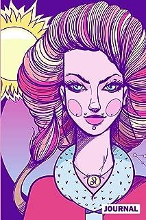 Journal: Leo Pastel Goth Punk Rock Zodiac Horoscope Notebook