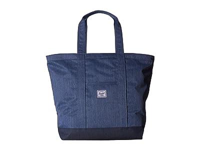 Herschel Supply Co. Bamfield Mid-Volume (Faded Denim/Indigo Denim) Tote Handbags