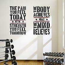 DesignDivil 2 Grote Home Gym Fitness Motivational Muursticker Citaten Gezonde Uitstekende Waarde!