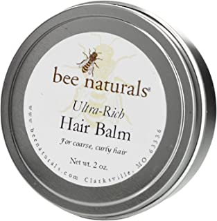 Ultra Rich Hair Balm - For Coarse, Curly and Dry Hair - Conditions and Shines with No Silicone Or Synthetic Ingredients - Leaves No Sticky Build Up In Hair - 1.5 Oz