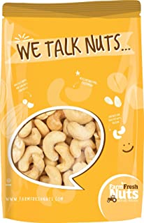 Dry Roasted CASHEWS Himalayan Salted - Small Batch - Oven Roasted - Without Oil (1 LB.) By Farm Fresh Nuts