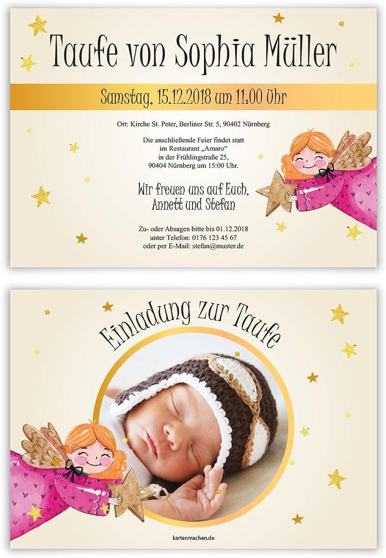 40 x Taufeinladungen Taufkarten Taufkarten Taufkarten Einladungskarten Taufe Einladung - Glücklicher Engel B07BHN4YJ6  | Angemessene Lieferung und pünktliche Lieferung  0fc517