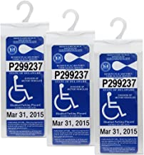 LotFancy Handicap Parking Placard Holder Cover - Disabled Parking Permit Holder with Larger Hook - Pack of 3