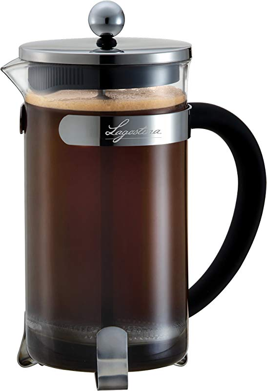 Lagostina T9910564 French Press Coffee And Tea Maker 8 Cup Silver