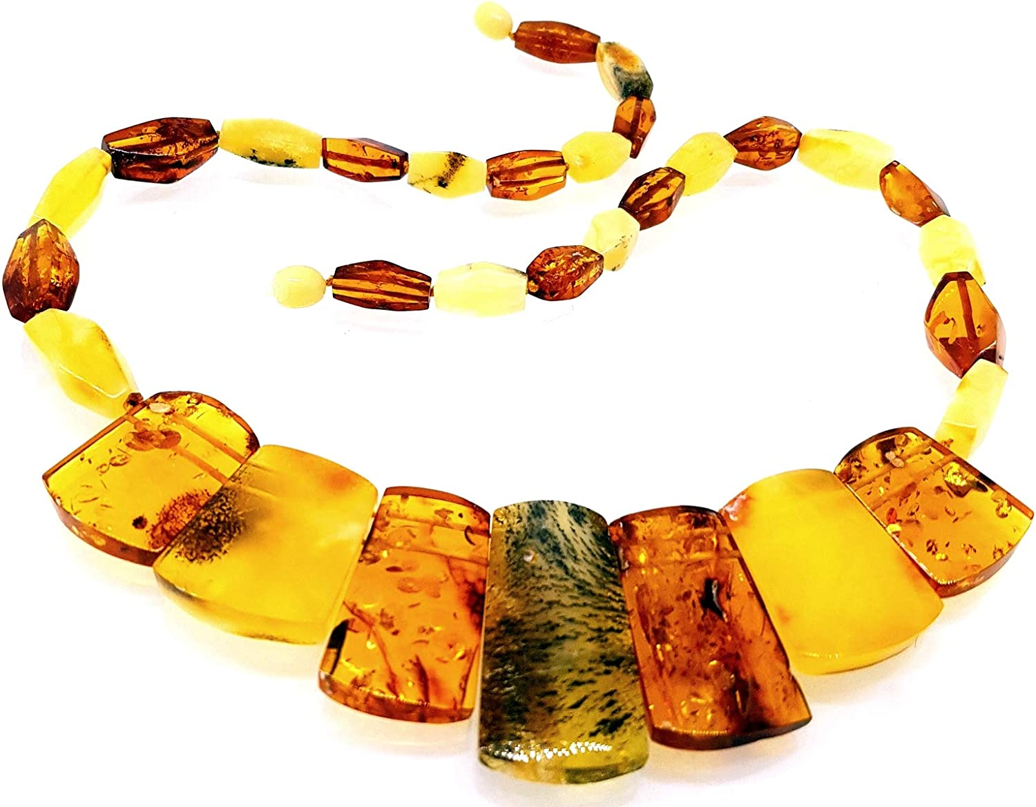 Natural Baltic Amber Necklace Collar / Certified Genuine Baltic Amber