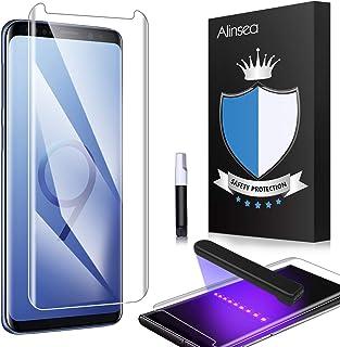 Galaxy S9 フィルム 全面粘着 ケースに干渉せず Alinsea Galaxy S9 ガラスフィルム 優れたタッチ感度 Samsung Galaxy S9 対応 5.8 インチ