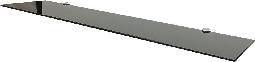 Euro Tische Glazen wandplank, zwart, glazen plank met 6 mm ESG-veiligheidsglas, perfect geschikt als badplank, glazen plan...