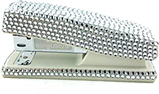 blingustyle Sparkly Diamante Crystal Stapler for Office/Home Silver