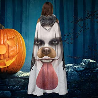 Crow Brandon Lee Dog Snapchat Filter Unisex Christmas Halloween Witch Knight Hooded Robe Vampires Cape Cloak Cosplay Costume Black