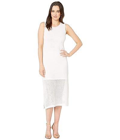 Nally & Millie Sleeveless Lace Dress with Side Slit (White) Women