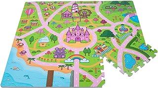 Leo & Emma Tapis Puzzle pour Filles en Design Princesse Elfe comme Tapis de Jeu - Beaucoup de détails conçus avec Amour - ...