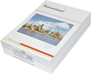 10-Piece FIS International Writing Pads, Single Ruled, A4 Size (80 Sheets x 10 Pcs) - FSPDA4INT2