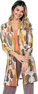 Jostar Women's Tosca Duster Jacket Quarter Sleeve Print