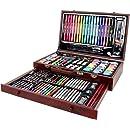 K/ünstlermalset Malkoffer Mal-und Zeichenkoffer edel Deluxe 112 teilig Acrylfarben Set im Koffer Malen Malset