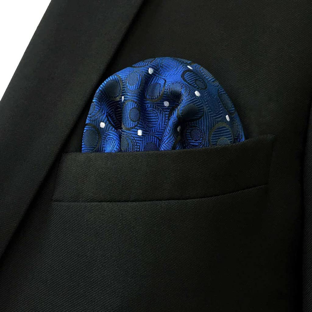 YFQHDD Business Multicolor Pocket Square Mens Classic Suit Gift Handkerchief Checkes Acceossories (Color : C, Size : 32x32CM)