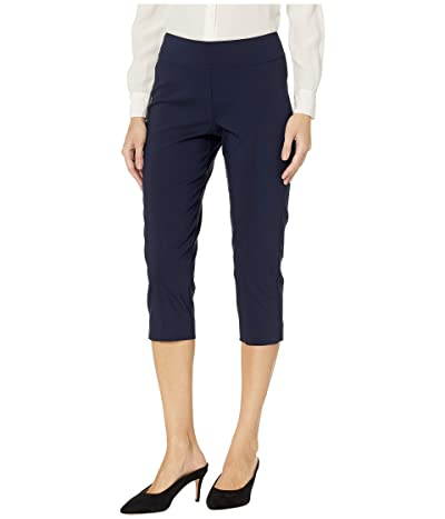 Krazy Larry Pull-On Capri Pants (Navy) Women