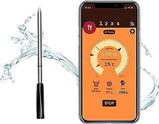 FITCHCE Drahtloses Fleischthermometer, Grillthermometer Intelligentes Kochthermometer mit Bluetooth für Raucherküche Grill...