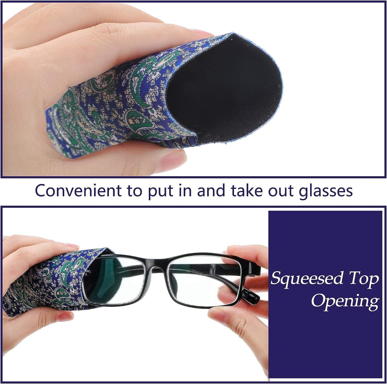 12 Pieces Glasses Case Eyeglass Pouch Soft Bag Portable Cloth Eyewear Case Anti-Scratch, Sturdy Pocket Size Cases (6 x 2.4 Inch)