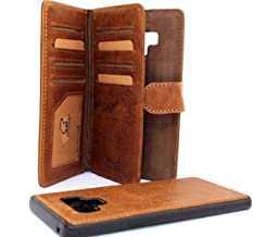 Genuine Leather Case for Samsung Galaxy Note 9 Book Wallet Ultra Cover Handmade Detachable Retro Luxury Cards Slots Magnetic Daviscase 1948 note9
