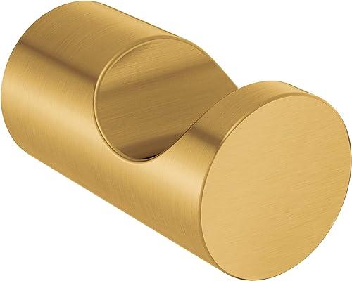 2021 Moen 2021 YB0403BG Align Modern Single Robe Hook, popular Brushed Gold outlet online sale