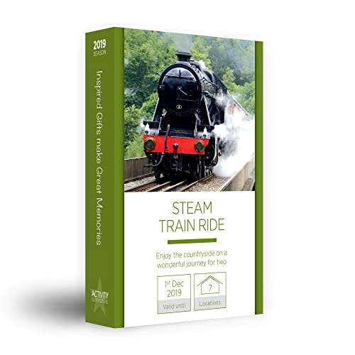 Activity Superstore - Steam Train Ride for Two - Gift Experience - Choose 1 from 8