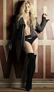 Shakira Star Poster Family Silk Wall Prints 40 inch x 24 inch / 21 inch x 13 inch