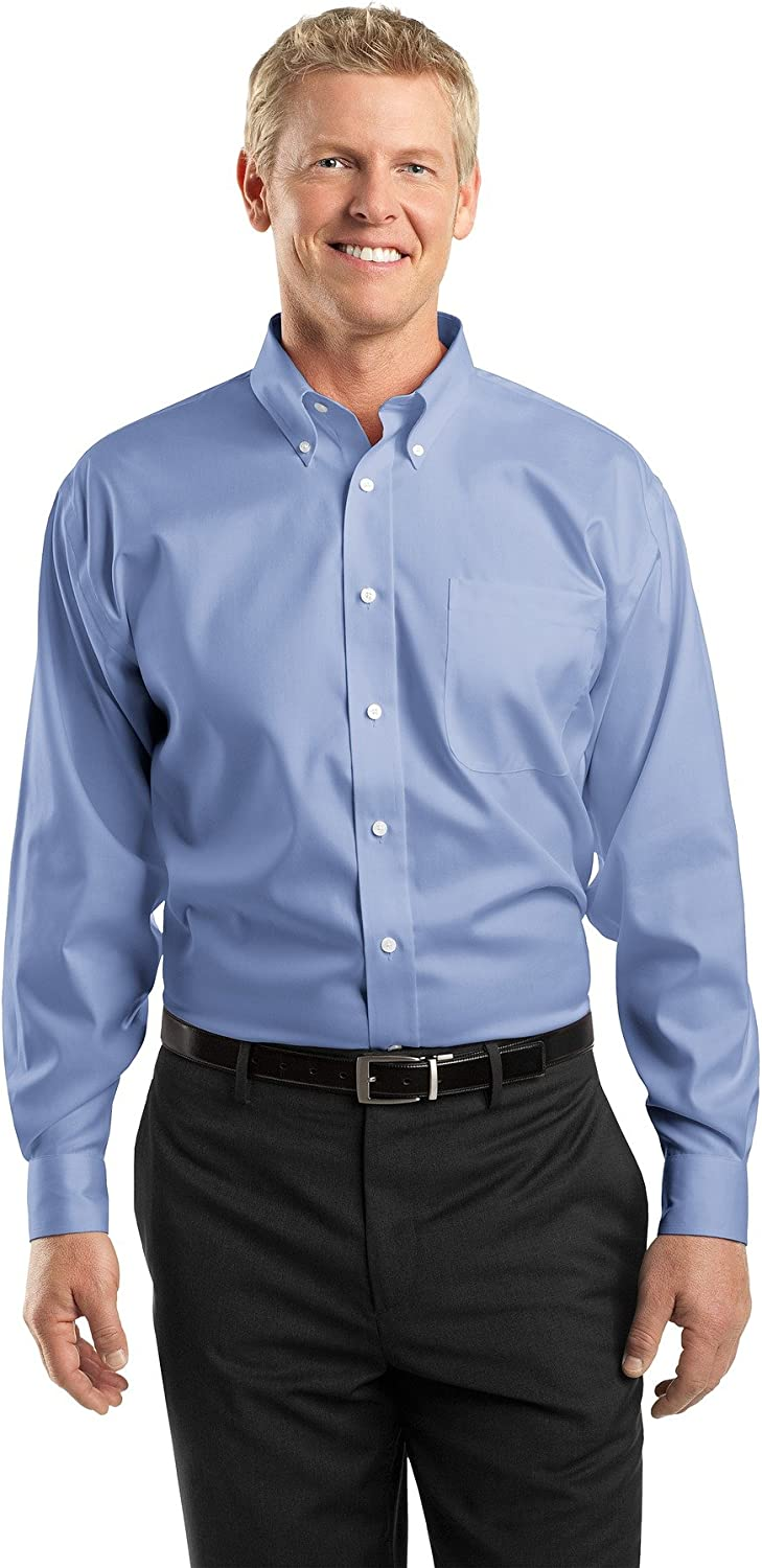 Red House Mens Tall Non-Iron Pinpoint Oxford, XLT, Blue