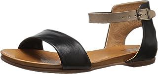 Miz Mooz Women's ALANIS Sandal, Black, 7 M US