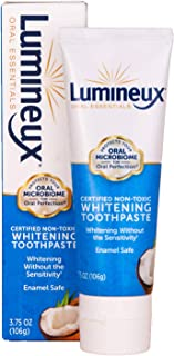 Lumineux Oral Essentials Teeth Whitening Toothpaste | Certified Non Toxic | Sensitivity Free | Fluoride Free | Whiter Teet...