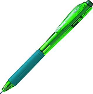 Pentel WOW! Retractable Ballpoint Pens, Medium Line, Green Ink, Box of 12 (BK440-D)