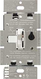 Lutron Toggler C.L Dimmer Switch for dimmable LED, Halogen and Incandescent Bulbs, Single-Pole or 3-Way, AYCL-153P-WH, White