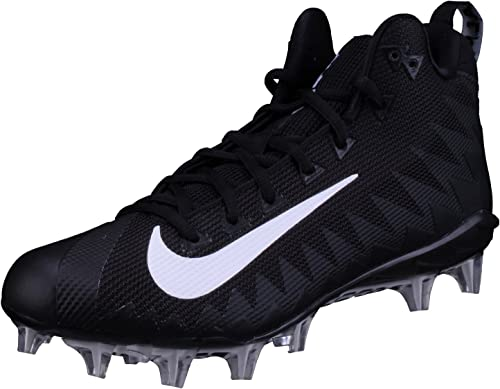 NIKE Hommes's Alpha Hommesace Pro Mid Football Cleat noir blanc Taille 12.5 M US