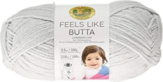 Lion Brand Yarn 215-149 Feels Like Butta Yarn, Pale Grey