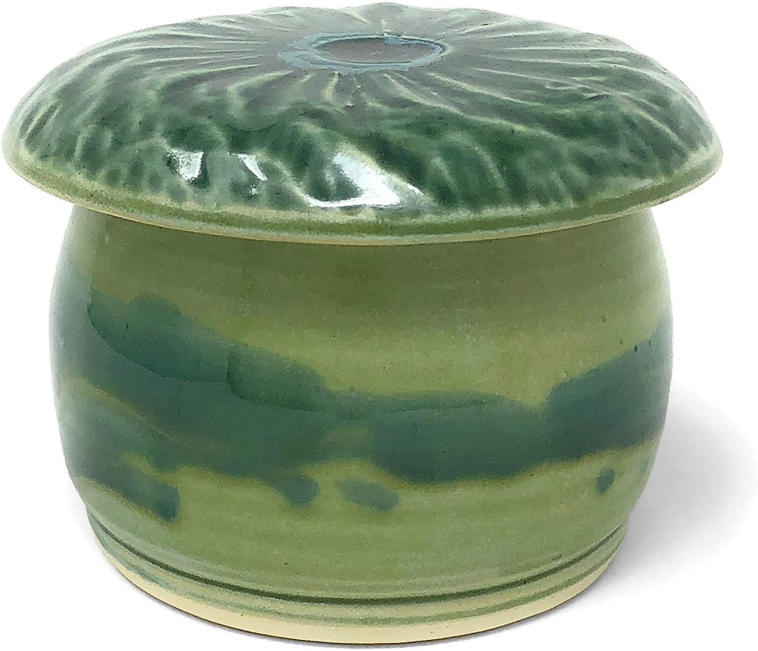 Ole Fish House Pottery Albuquerque Mall French Green Keeper Butter Max 46% OFF Botanical